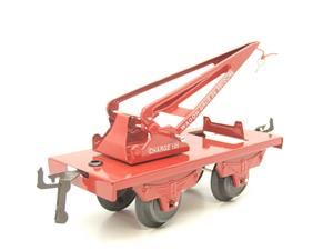 "Hornby Hachette Series French O Gauge No.59, 10 Ton ""Red Crane Truck"" Wagon NEW Pack image 2"