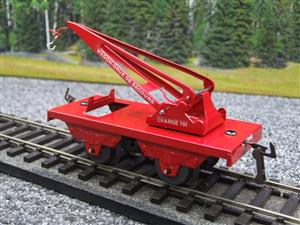 "Hornby Hachette Series French O Gauge No.59, 10 Ton ""Red Crane Truck"" Wagon NEW Pack image 3"