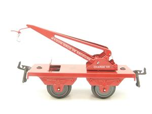 "Hornby Hachette Series French O Gauge No.59, 10 Ton ""Red Crane Truck"" Wagon NEW Pack image 5"