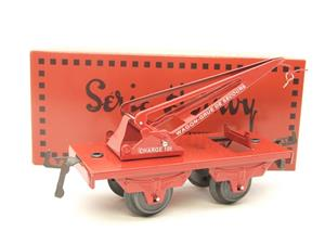 "Hornby Hachette Series French O Gauge No.59, 10 Ton ""Red Crane Truck"" Wagon NEW Pack image 10"