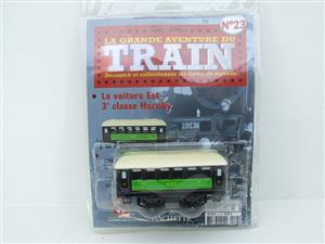 "Hornby Hachette Series French O Gauge No.23 Green & Black ""EST 3rd Class Passenger Coach NEW Pack image 1"