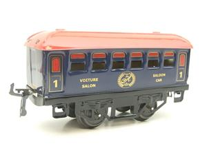 "Hornby Hachette Series French O Gauge No.62 Blue Red Roof Voiture ""Saloon"" 1st Class Coach NEW Pack image 4"