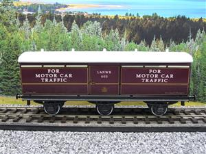 Darstaed O Gauge LNWR Six Wheel Motor Car Van R/N 603 Boxed 2/3 Rail Running image 1