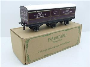 Darstaed O Gauge LNWR Six Wheel Motor Car Van R/N 603 Boxed 2/3 Rail Running image 2
