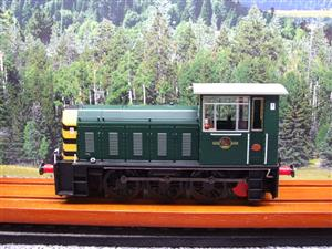 "HelJan O Gauge 25911 Class 05 BR Green With ""Wasp"" Stripes"" Diesel Shunter Loco Electric 2 Rail Bxd image 9"