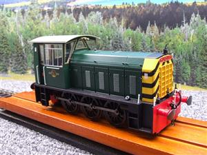 "HelJan O Gauge 25911 Class 05 BR Green With ""Wasp"" Stripes"" Diesel Shunter Loco Electric 2 Rail Bxd image 10"