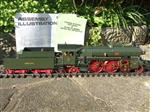 Gauge 1 Aster Green German Bay S2/6 4-4-4 Loco & Tender, R/N 3201 Live Steam