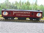 "Gauge 1 ""Palethorpes"" Double Bogie CCT Goods Van Coach M94291"