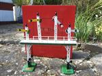 "Ace Trains O Gauge ACS/3 Signal Gantry ""Distant"" Yellow Fish Tail Signal Arms Edition Electric"