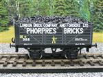 "Ace Trains O Gauge G/5 Private Owner ""Phorpres Bricks"" No.988 Coal Wagon 2/3 Rail"
