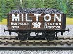 "Ace Trains O Gauge G/5 Private Owner ""Milton"" No.10 Coal Wagon 2/3 Rail"